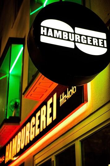 Hamburgerei, Außenschild, © Hamburgerei