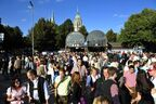 Wiesn Ausgang U bahn Oktoberfest, © Quelle: MVG/SWM