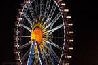 Oktoberfest Riesenrad im Dunkeln Wiesn, © Rico Güttich / münchen.tv