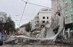 Ismaninger Straße umgestürztes Baugerüst, © Foto der Berufsfeuerwehr München