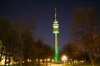 St. Patrick's Day 2014 - Greening München Blick auf den Olympiaturm, © St. Patrick's Day 2014 - Greening München Blick auf den Olympiaturm ©D.I.F. e.V. / Fotograf Andreas Kotowski