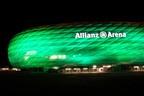 St. Patrick's Day 2014 - Greening München  Allianz Arena in Grün, © Foto: D.I.F. e.V. / Fotograf Andreas Kotowski