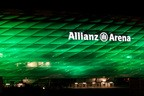 St. Patrick's Day 2014 - Greening München Allianz Arena in Grün, © Bild: D.I.F. e.V. / Fotograf Andreas Kotowski