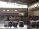 © Matrazenlager der Flüchtlinge auf dem Messegelände