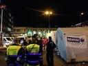 Für die ankommenden Flüchtlinge wurden Zelte aufgestellt vorm Hauptbahnhof
