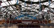Aufbau Oktoberfest 2015 - So siehts auf der Wiesn aus, © Die Festhallen werden bereits geschmückt.