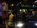 Shuttlebusse stehen am Hauptbahnhof parat, © Shuttlebusse stehen am Hauptbahnhof parat