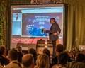 Skype Schaltung Krugvorstellung Hofbräu Oktoberfest 2015, © Weil er gerade einen Film dreht konnte Oliver Berben nur per Skype dabei sein.