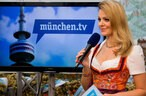 Bilder Oktoberfest München TV, © Moderatorin Monika Eckert live im Wiesn Studio