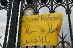 © Schild von Demonstration beim Palace of Westminster - London