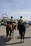 Polizisten auf Pferden auf dem Oktoberfest , © Polizei München