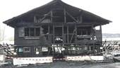 Das Bootshaus am Starnberger See brennt
