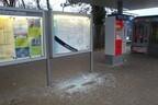 Bahnhof Moosach glasschaukästen demoliert, © Bundespolizei