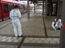 Spurensicherung am Grafinger Bahnhof