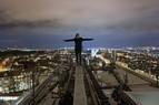 Unterwegs auf Münchens Dächern - Rooftopper und Freeclimber Icarus, © Foto:  Icarus Senpai
