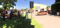 Feuerwehreinsatz am Gymnasium in Trudering - München