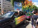 Politparade Christopher Street DAY (CSD) München 2016 - Wagen Deutsche Eiche mit Dietmar Holzapfel