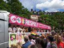 Politparade Christopher Street DAY (CSD) München 2016 - Wagen Aidshilfe