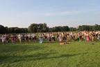 Hunderte Teilnehmer Trainieren in Tracht und Lederhosn in München