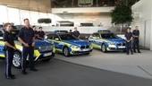 Polizeiwagen, Polizeiauto, blau, Bayern, © Die ersten fünf neuen Wagen wurden vorgestellt.