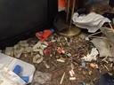 Müll liegt auf dem Boden , © so könnte es in eine Messiewohnung aussehen