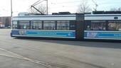 Die Präventions-Tram der Münchner Polizei.