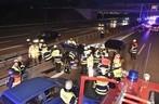 Unfall, Feuerwehr, Polizei, A 9, Tesla, Passat, © Foto: Branddirektion München
