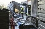Baucontainer brennen in der Hohenzollernstraße, © Rechte: Kreisverwaltungsreferat Branddirektionsstelle