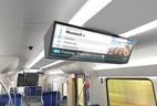 © Auch neue Monitore mit Fahrgastinfos kommen in die neuen S-Bahnen: Grafik: BEG