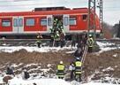 Evakuierung einer S-Bahn im Winter, © Foto: Berufsfeuerwehr München